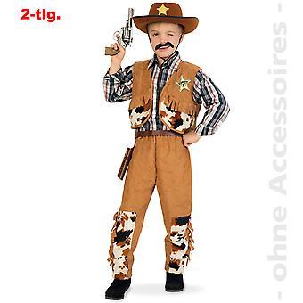 Cowboy kostume børn vilde Vesten Western hero rancher barn kostume
