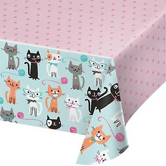 Cats tablecloth 137x259cm 1 piece children birthday theme party party birthday
