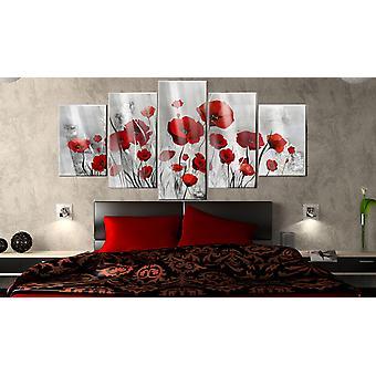 Image on acrylic glass - Scarlet Cloud [Glass]200x100