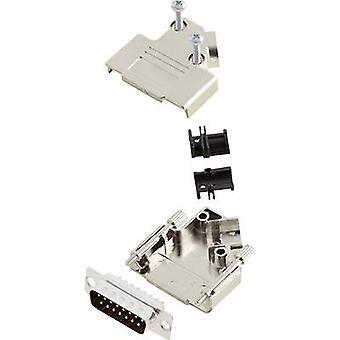 encitech D45PK-M-15-DBP-K 6355-0009-02 D-SUB-nastainen nauha sarja 45 ° nastojen luku määrä: 15 juotos ämpäri 1 sarja