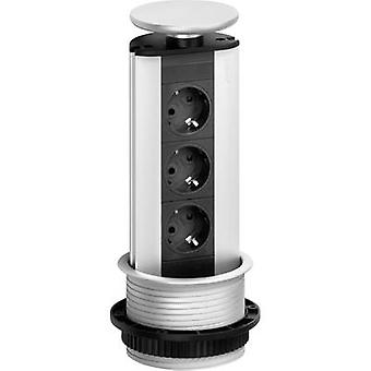 EVOline 93100001 Socket tower 3x Black, Silver PG connector 1 pc(s)