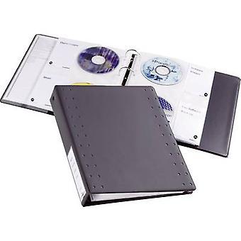 Kestävä CD/DVD kansio 40 CD/DVD/Blu-säteiltä antrasiitti 10 PCs() 522758