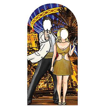 Black and Gold Secret Agent Stand - in Cardboard Cutout / Standee