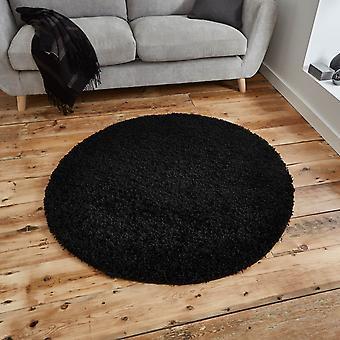 Vista circolare tappeti Shaggy 2236 nero