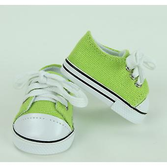 "18"" Doll Clothing Low Top Sneakers, Lime Green"