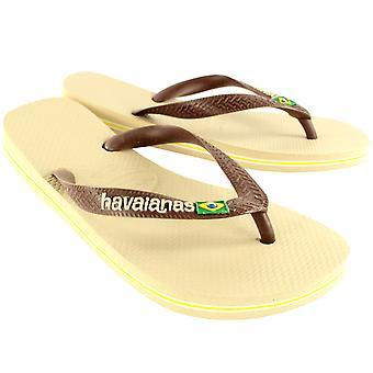 Womens Havaianas Brasil Logo Slip On Flip Flops Summer Beach Sandals nouveau