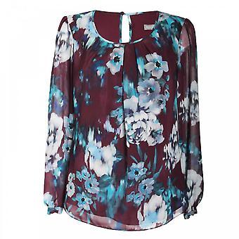 Michaela Louisa Lightweight Long Sleeve Floral Print Top