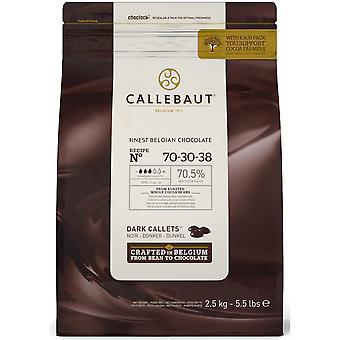 Callebaut 70% Extra Bitter Dark Chocolate '38' Callets