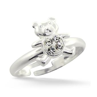 Teddy Bear - 925 Sterling Silver Rings - W11836x