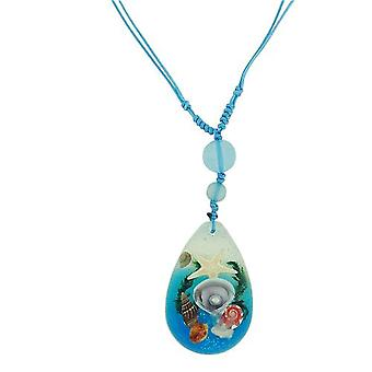 The Olivia Collection Nautical Underwater Life Necklace with REAL Shells and Starfish BUG14
