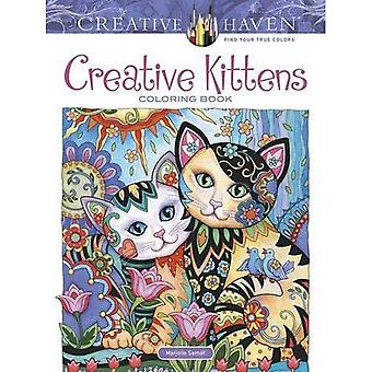 Kreativa oas kreativa kattungar målarbok