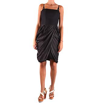 Elisabetta Franchi Ezbc050111 Damen's schwarze Seide Kleid