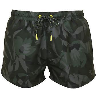 Boss blommig Camo Print simma Shorts, Khaki