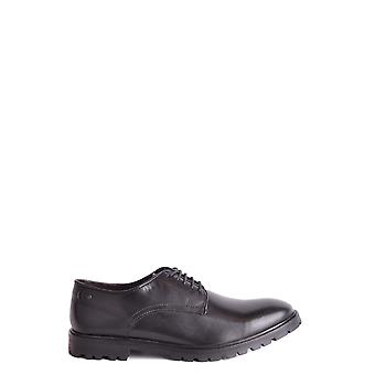 Base London Ezbc207006 Männer's schwarze Leder Schnürschuhe