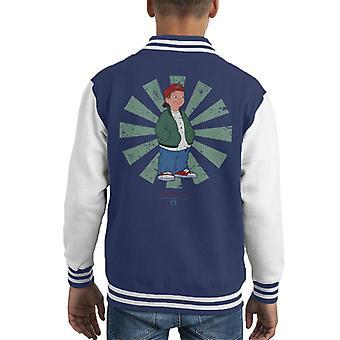 TJ retro japansk fordypningen Kid ' s Varsity jakke