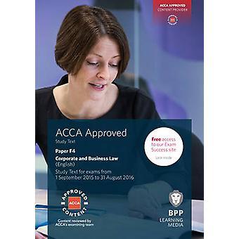 ACCA F4 droit des sociétés et des affaires (anglais)-Etude de texte par BPP Learn