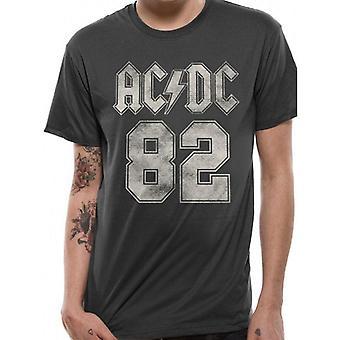 AC/DC Unisex aikuiset 82 College Design T-paita