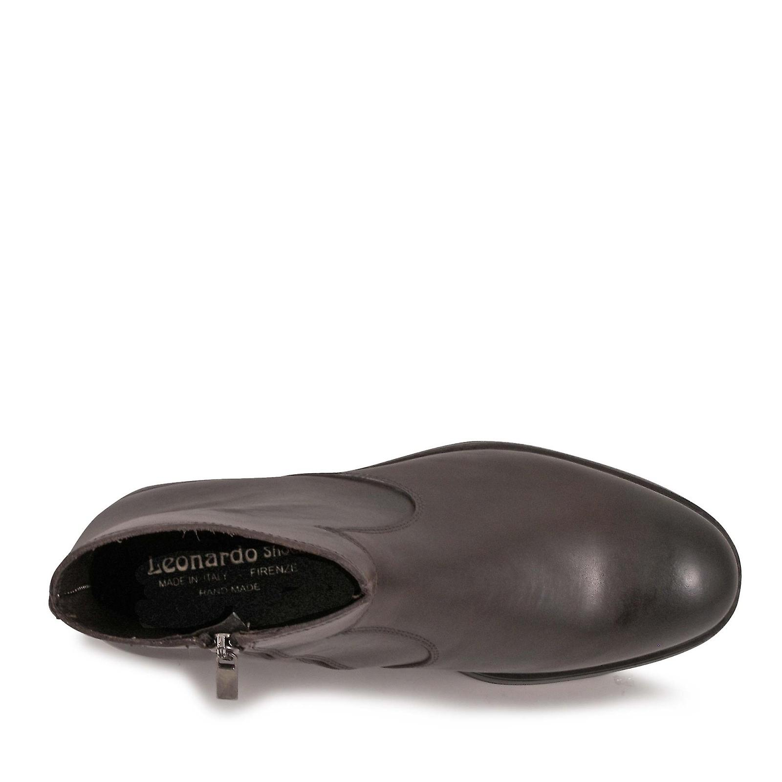 Chaussures Leonardo 4846vitelloaccioccolatoi Men-apos;s Bottes de cheville en cuir brun NurVAT