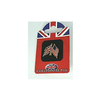 Union Jack bär Union Jack/USA vänskap Badge
