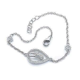 Bracelet 18 Cm  Drop Zirconium