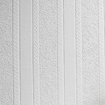 Anaglypta hvid paintable marmor stribe tapet vinyl væg vaskbar tekstureret