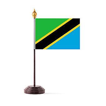 Tanzania Tabel Vlag met stok en Base