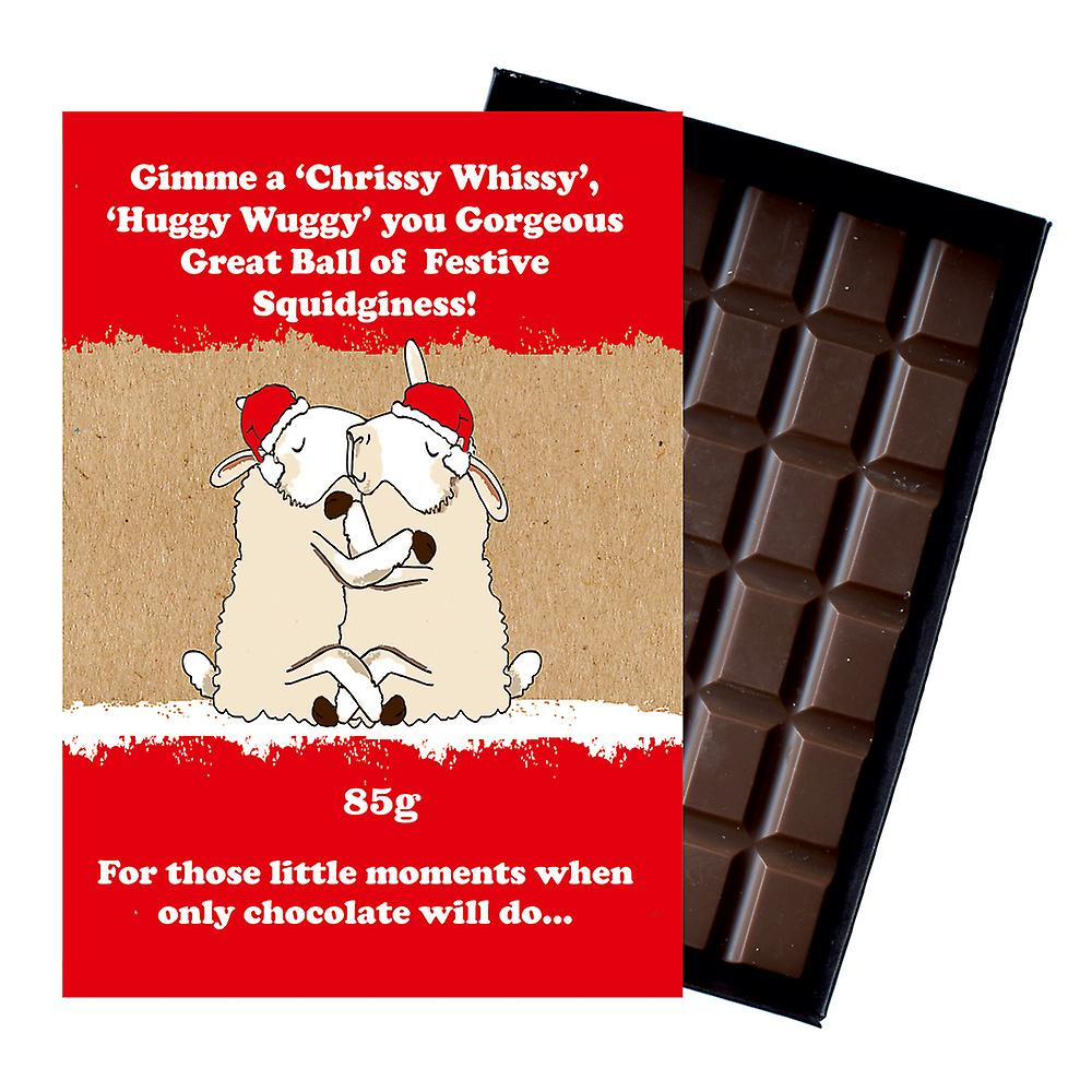 Funny Christmas Gift For Men Women Boxed Chocolate Festive Xmas Present for Him or Her XMS105