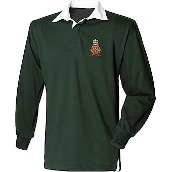 Queens Lancashire Regiment Veteran - Licensed British Army Embroidered Long Sleeve Rugby Shirt
