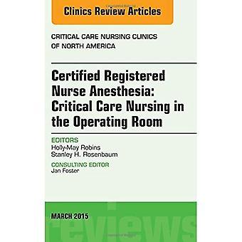 Gecertificeerde verpleegkundige anesthesie: Critical Care Nursing in de operatiekamer, een kwestie van kritieke zorg...