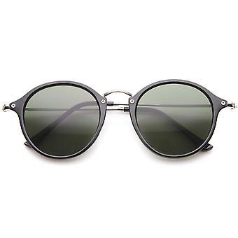 Iconische klassieke Dapper dun metaal tempel getint Lens ronde zonnebril 49mm