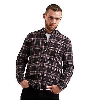 Lyle & Scott Lyle Check Flannel Shirt True Black