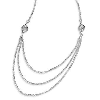 925 Sterling Argento strati-look catena collana - 18 pollici