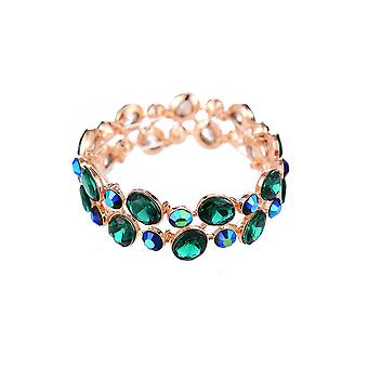 Emerald Jewelled elastische armband
