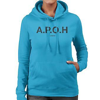A.P.O.H Classic Black Logo Women's Hooded Sweatshirt