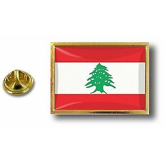 Pine PineS Badge Pin-apos;s Metal With Butterfly Brush Flag Lebanon Lebanese