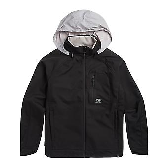 Animal Yukon Full Zip Fleece in Black