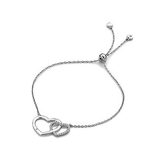 Hot Diamonds Bliss Double Heart Bracelet DL569