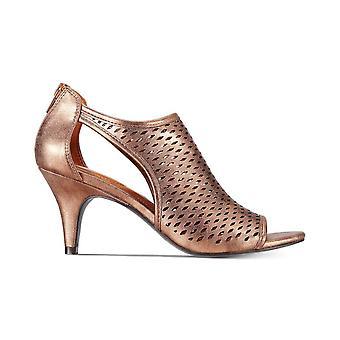 Style & Co Womens Haddiee Faux läder Open Toe Shooties Tan 10 medium (B, M)