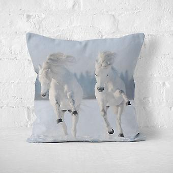 Meesoz Cushion Cover - Two Horses In Gallop