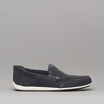 Rockport Bi4 Venetian Mens Suede Leather Driving Shoes Navy
