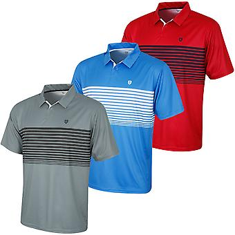 Island Green Mens Golf IGTS1774 Sublimated Stripe Polo Shirt