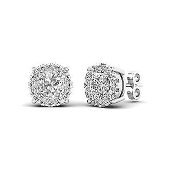 Igi gecertificeerd 10k 0.50 ct ronde geslepen diamant stud oorbellen echte solide pushbacks