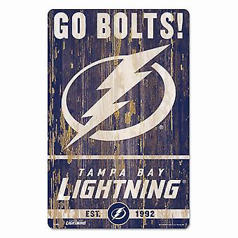 Wincraft NHL Holzschild SLOGAN Tampa Bay Lightnings 43x28cm