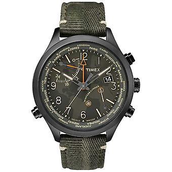 Tiempo del mundo Timex Waterbury 43mm tela TW2R43200VQ ver