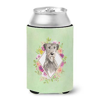 Carolines Schätze CK4391CC Irischen Wolfhund grüne Blumen können oder Flasche Hugger