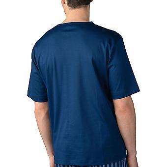 Mey 20710-664 Men's Lounge Neptune Blue Cotton Pyjama Top