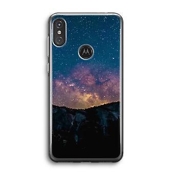 Motorola Moto One Power (P30 Note) Transparent Case (Soft) - Voyage dans l'espace