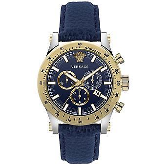 Versace Vev800219 Sporty Men's Watch Chronograph 44 Mm