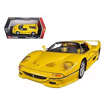 Ferrari F50 Gelb 1/18 Diecast Modellauto von Bburago