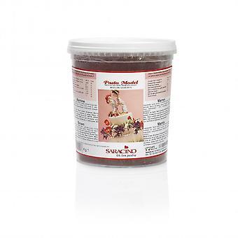 Saracino Modelling paste-ruskea 1kg-IRTOTAVARANA pakkaus 6